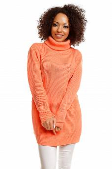 30044 LONG JUMPER TURTLENECK TUNIC APRICOT
