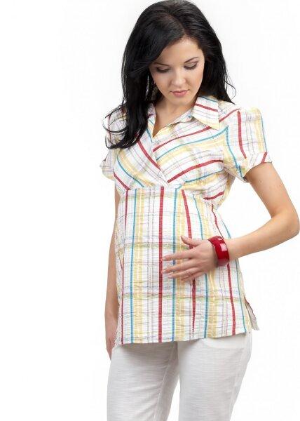 Nowość Koszula ciążowa w kratke - SUN XA42